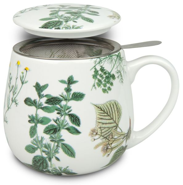 Tea 4 You. Teetasse mit Sieb und Deckel My favourite tea