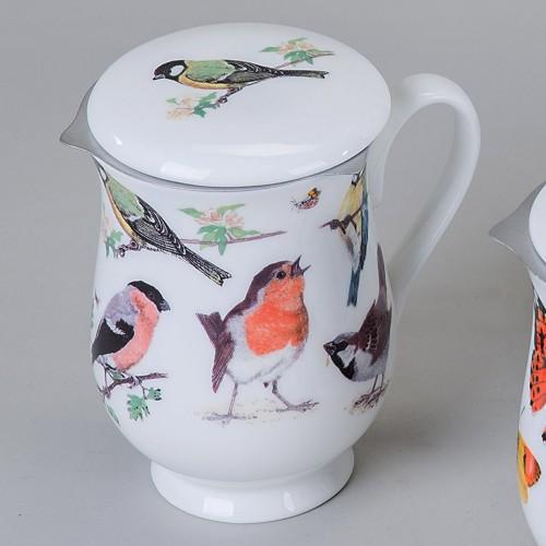 tea 4 you roy kirkham tasse mit sieb und deckel garden birds motiv1. Black Bedroom Furniture Sets. Home Design Ideas