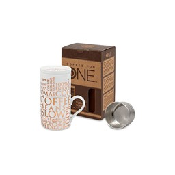 Bild von Kaffeebereiter mit Tasse Coffee for One 100% on white
