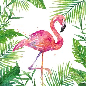 Bild von Tropical Flamingo Servietten