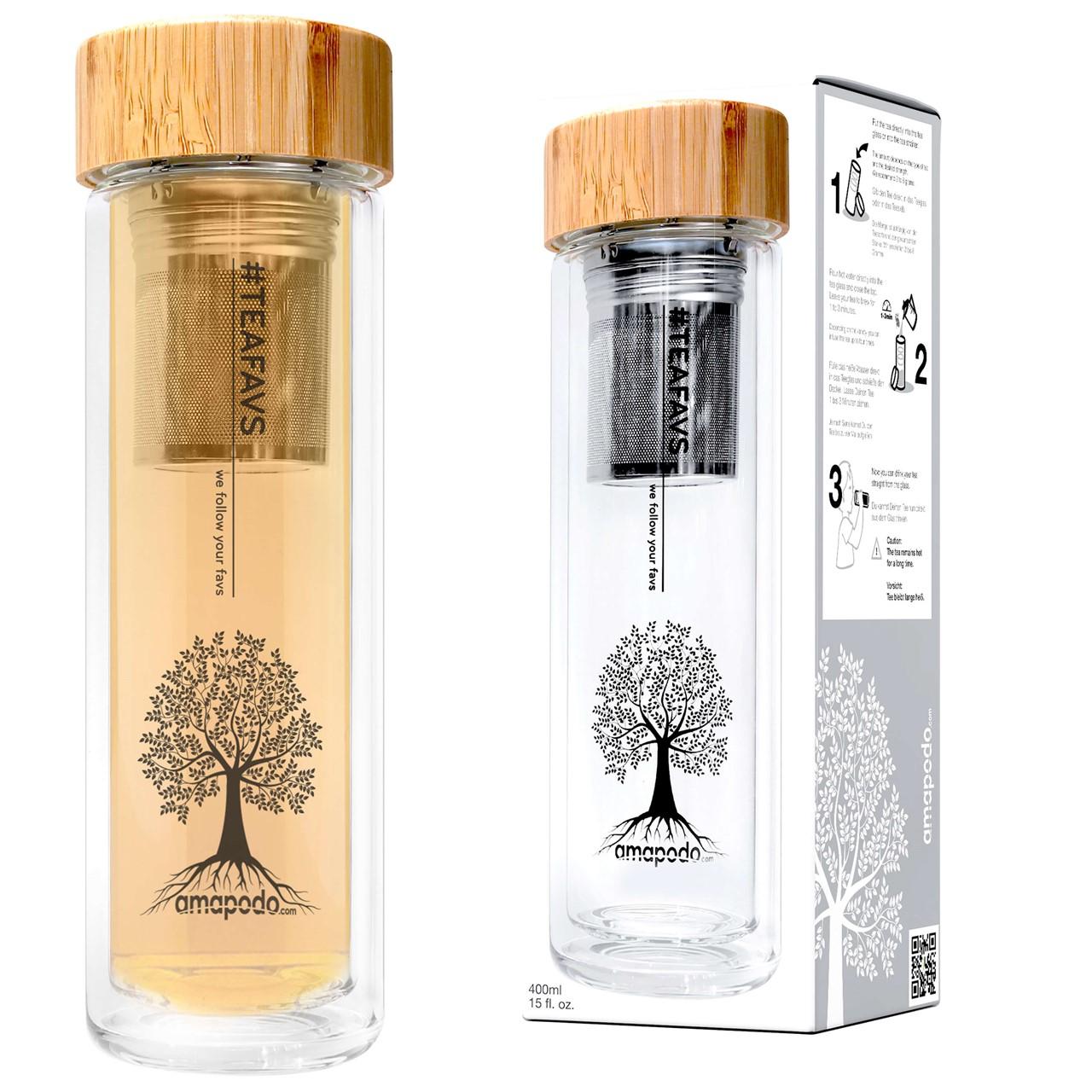 tea 4 you teeflasche sieb bambus teafavs to go 0 55 l ab 40 versandkostenfreie lieferung. Black Bedroom Furniture Sets. Home Design Ideas