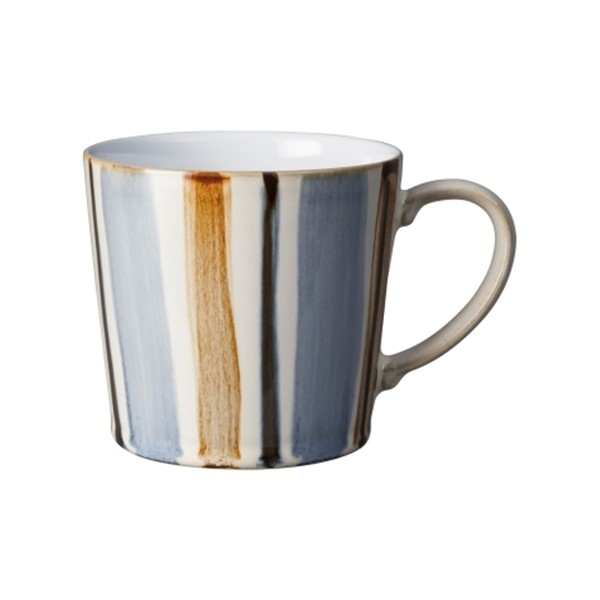 Bild von Denby Brown Stripes Henkelbecher Mug Tasse