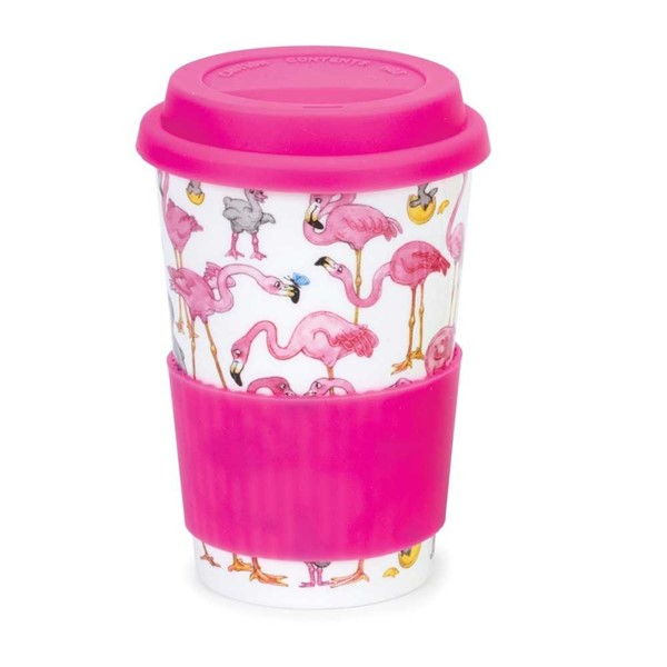 Bild von Flamingos Flamboyance Dunoon Porzellan Travel Mug Coffee to go