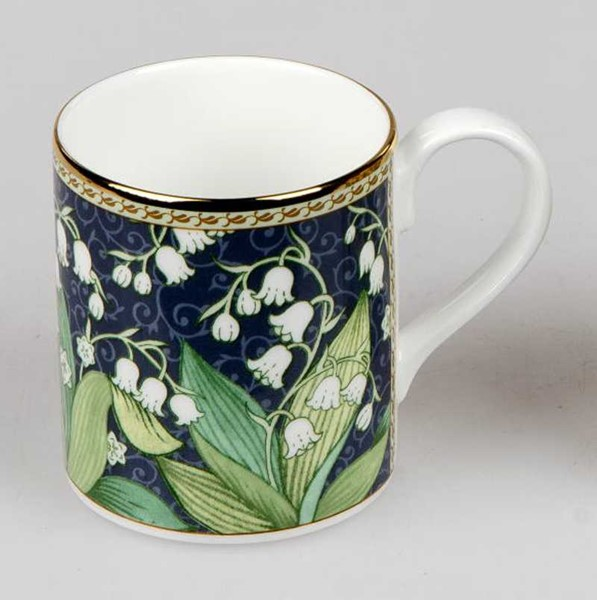 Bild von Lily of Valley Larch Roy Kirkham Tasse Henkelbecher 0,3