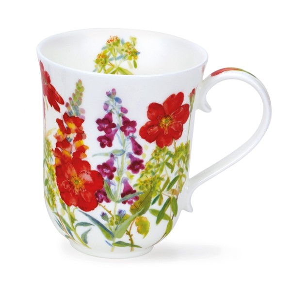 Bild von Dunoon Tasse Cottage Flowers red rot Braemar