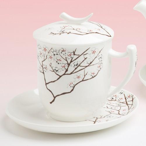 tea 4 you teetasse mit sieb und deckel white cherry. Black Bedroom Furniture Sets. Home Design Ideas