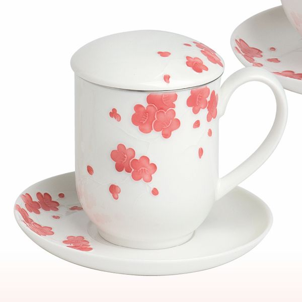 tea 4 you teetasse mit sieb und deckel sakura. Black Bedroom Furniture Sets. Home Design Ideas